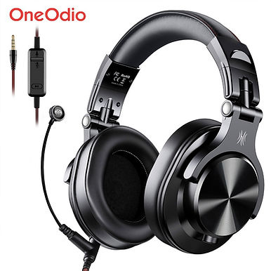Oneodio A71 Gaming Headset Over Ear Wired With Mic for PC PS4 Xbox - Black