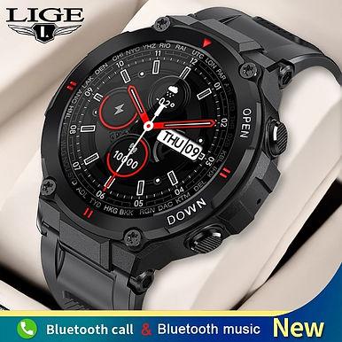 "LIGE Sports 1.28""IPS Screen Smart Watch Bluetooth Call Heart Rate Monitor"