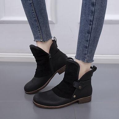 Women's Winter Flock Ankle Boot