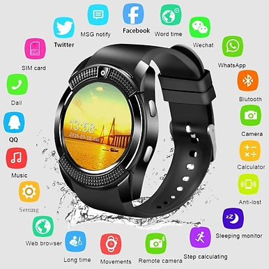 "Jakcom 1.2"" LCD Smart Watch Fitness Tracker Support SD Card & SIM Card"