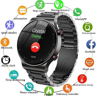 "GEJIAN Bluetooth Call 1.3"" Smart Watch Heart Rate & Blood Pressure -Motion Track"