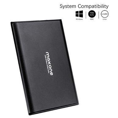 """Maxone 2.5"""" Portable External Hard Drive 2TB-USB 3.0 Ultra Slim"""