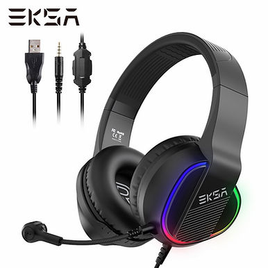 EKSA E400 Gaming Headset Stereo Wired With Microphone & RGB LED Lights