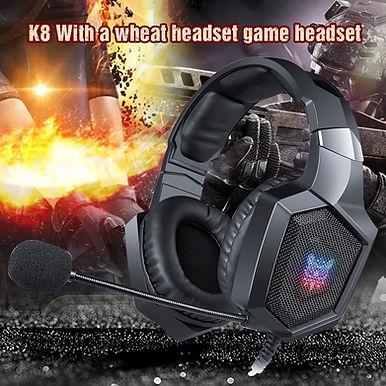 ONIKUMA K8 Gaming Headphones With ANC Microphone & LED Light