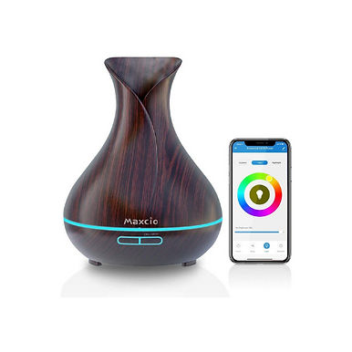 Maxcio Alexa WiFi Essential Oil Diffuser For Aromatherapy 400ml & 7 Light Colors