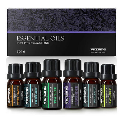VicTsing Essential Oils Set for Aromatherapy - 100% Pure Scented Oils 10ml x 6