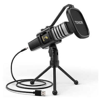 Tonor TC30 USB Microphone Condenser For Computer With Tripod Stand