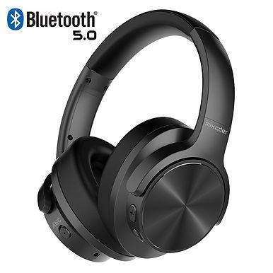 Mixcder E9 Wireless Bluetooth Headphones Active Noise Cancelling Mic - Deep Bass