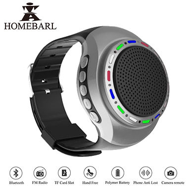 HOMEBARL U6 Bluetooth Speaker With TF Card / LED Cool Wrist / FM Radio