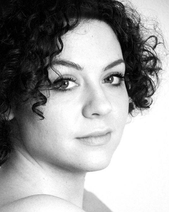 Natasha Conti black and white photo