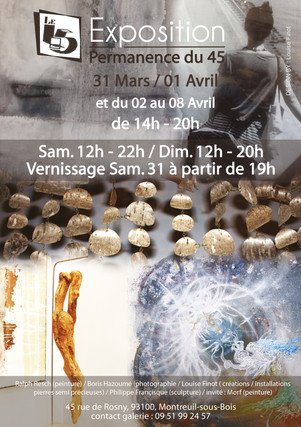 """Exposition """"45"""" Permanence 2018"""