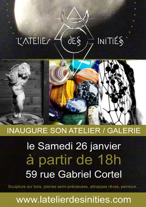 Inauguration Galerie l'Atelier des Initiés 2019