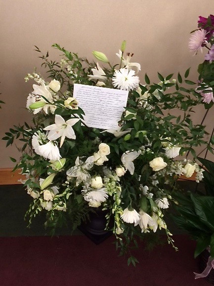 Mourner poured their heart out