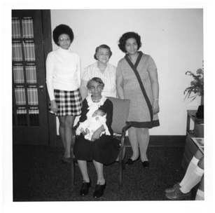 In 1971, at age 89, Pauline headed five generations