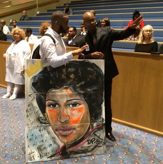 Artwork of Aretha Franklin
