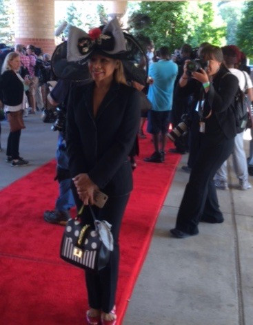 lady on red carpet