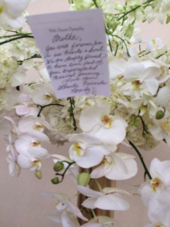 Orchids of love for the Queen of Soul.