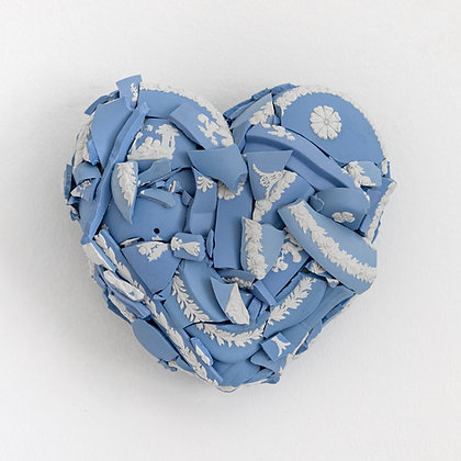 Heart Blue Wedgewood (H5)