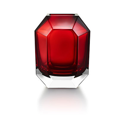 OCTOGONE VASE (RED) by BACCARAT
