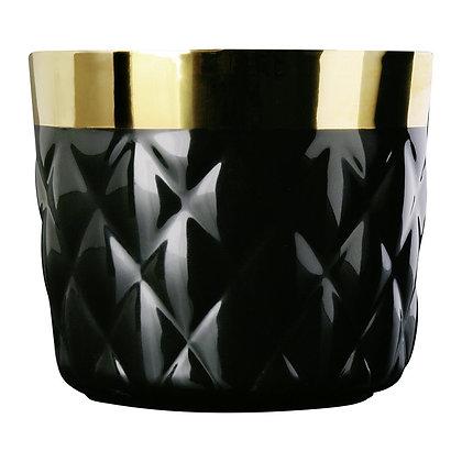 Champagne Goblet, Black, Cushion, Diamond Embossed by SIEGER BY FÜRSTENBERG