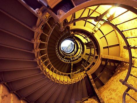 Spiral stairs inside Grays Harbor Westpo