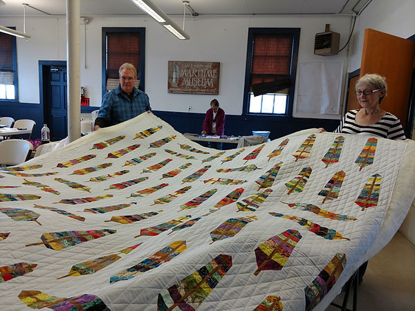 Quilters in McCausland Hall