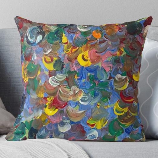 joyful colors throw pillow