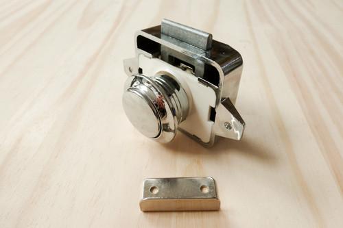 Push Lock Door Latch - Campervans - Motorhomes - Push Button Door Knob