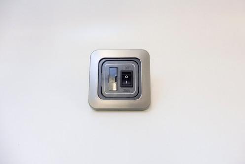 C-Line motorhome 5amp fused spur switch panel - 1 gang panel mount