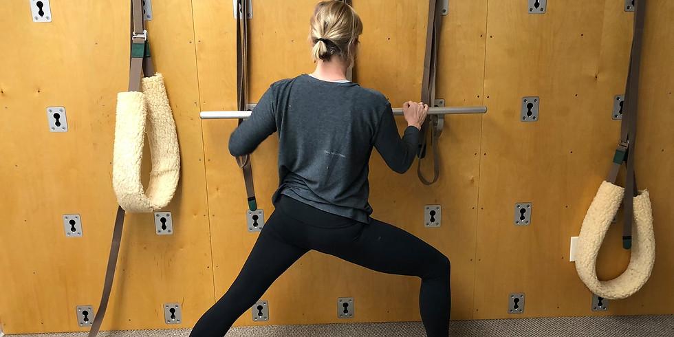 Wall Yoga Workshops with Jill!