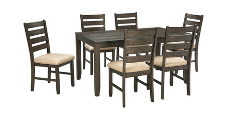 Rokane Dining Room Table and Chairs (Set of 7) ITEM# - D397-425