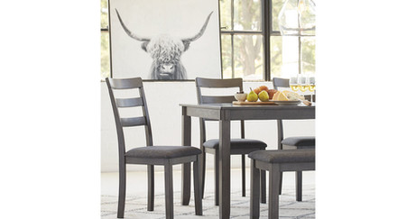 Bridson Dining Room Table and Chairs with Bench (Set of 6) ITEM# - D383-325