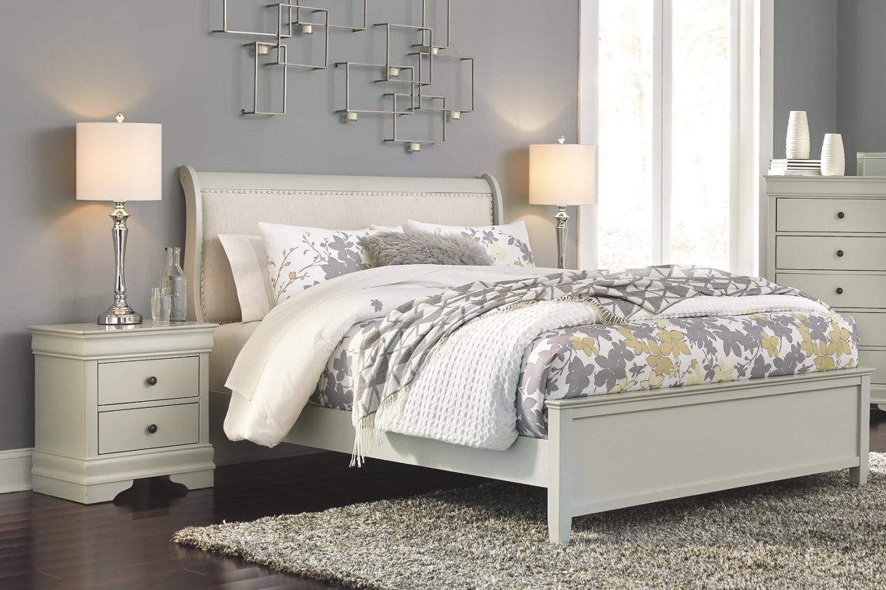 APG-B37Jorstad Queen Bed with 2 Nightsta