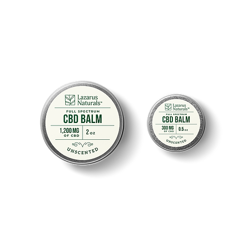 Lazarus Naturals Unscented Full Spectrum CBD Balm 1200mg