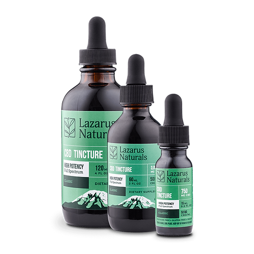 Lazarus Naturals High Potency Full Spectrum CBD Tincture