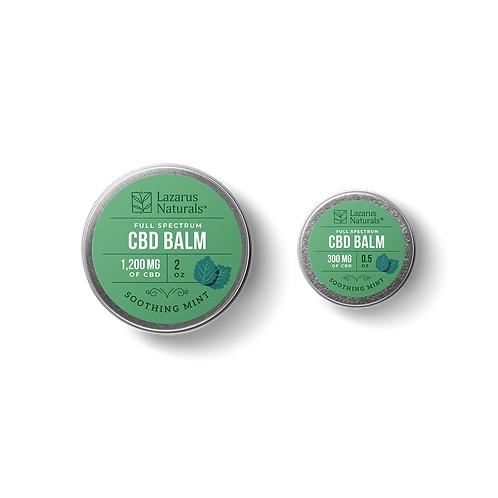 Lazarus Naturals Soothing Mint Full Spectrum CBD Balm 1200mg