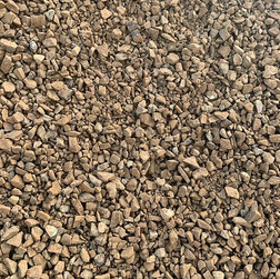 20mm brown crushed rock