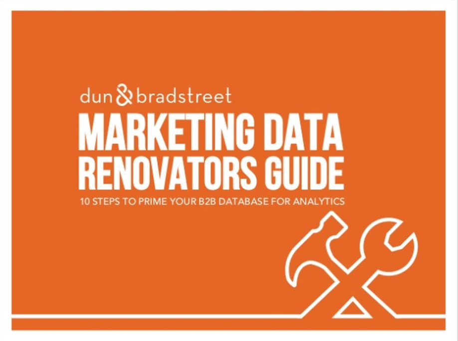 Marketing Data Renovators Guide: 10 Steps to Prime Your B2B Database for Analytics
