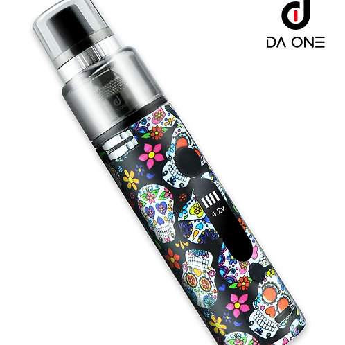 DA ONE Tech 900 mAh Barrel Starter Kit - Sugar Skull