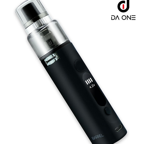 DA ONE Tech 900 mAh Barrel Starter Kit - Matte Black