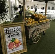 Faux Citrus Market Cart