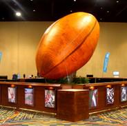 Sports Themed Mahogany Central Bar w/ 15' Inflatable Football