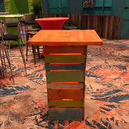 Colorful Crate Standing Cocktail Tables