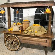 Faux Orange Market Cart