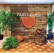 Reclaimed Wood Citrus Wall