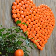 Orange Heart Close Up