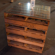 Pallet Standing Cocktail Table