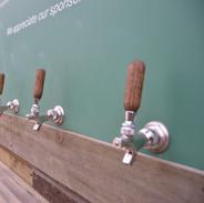 Beer Tap Wall Closeup