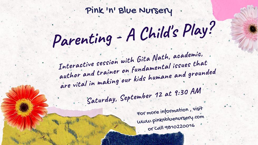Pink n Blue - Webinar on Parenting Event