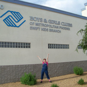 Michael Darby & Smile touring the Boys & Girls Clubs in Phoenix, AZ.